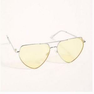 FreePeople Diamond in The Rough Aviator Sunglasses